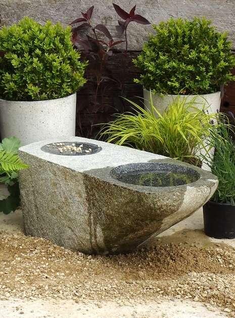 Granite Stone Bird Bath SBB6 | Welsh Slate Water Features 01