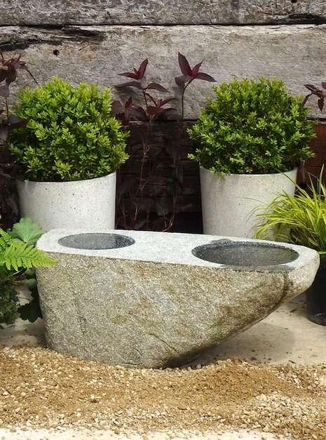 Granite Stone Bird Bath SBB6 | Welsh Slate Water Features 02