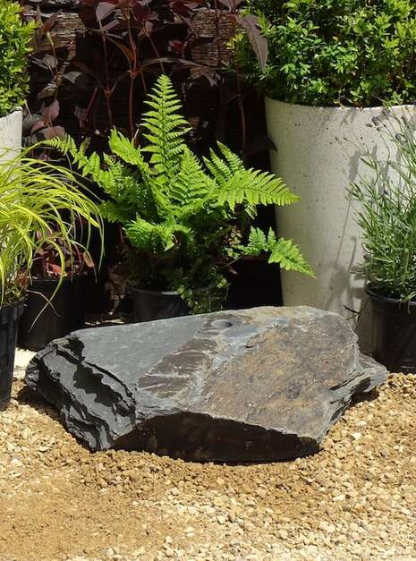 Slate Boulder SB16 Water Feature | Welsh Slate Water Features 01