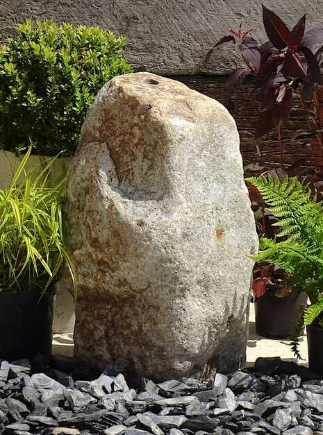 Stone Monolith SM150 Water Feature | Welsh Slate Water Features 01