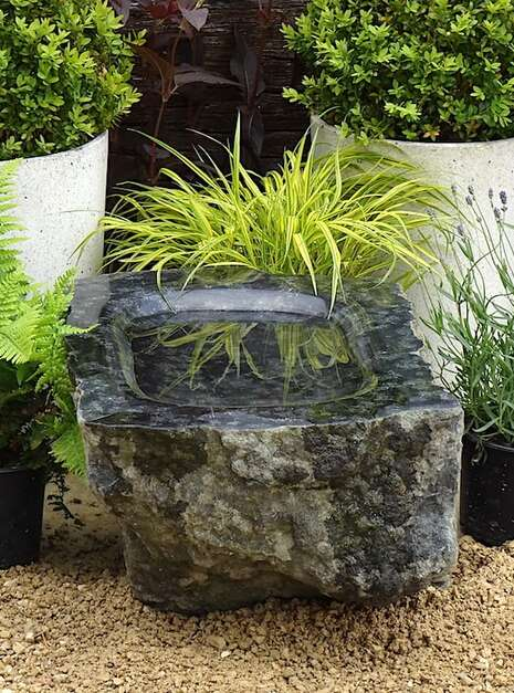 Unique Polished Stone Bird Bath SBB4 | Welsh Slate Water Features 03