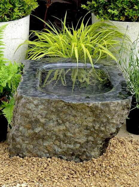 Unique Polished Stone Bird Bath SBB4 | Welsh Slate Water Features 04