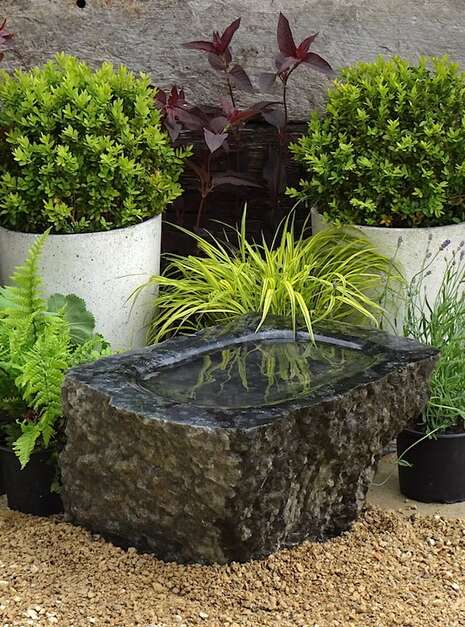 Unique Polished Stone Bird Bath SBB4 | Welsh Slate Water Features 06