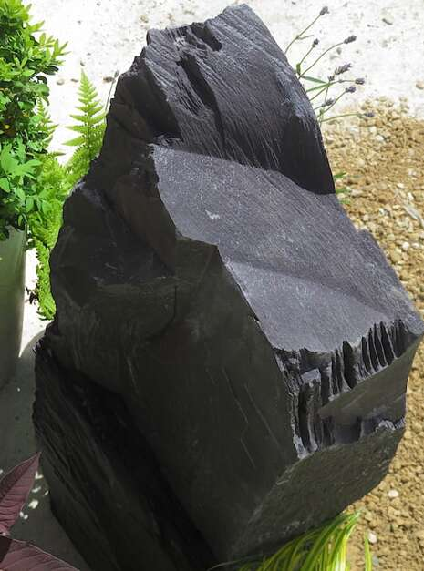 Japanese Monolith JM12 Standing Stone | Welsh Slate Water Features 06