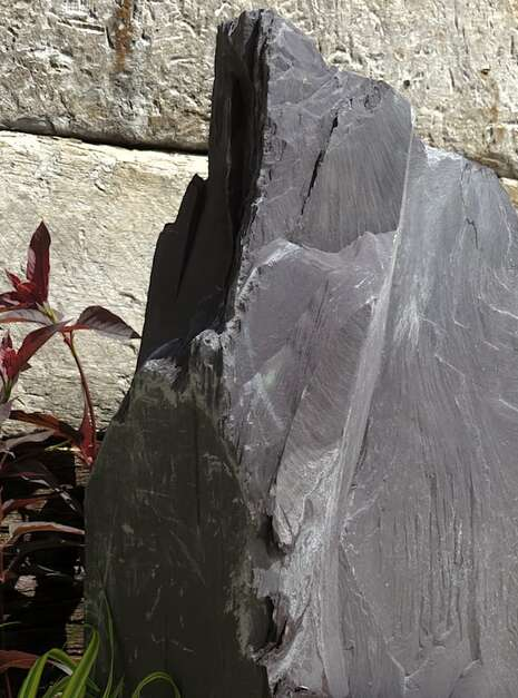 Japanese Monolith JM12 Standing Stone | Welsh Slate Water Features 07