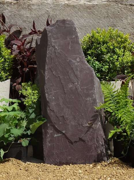 Japanese Monolith JM13 Standing Stone | Welsh Slate Water Features 03