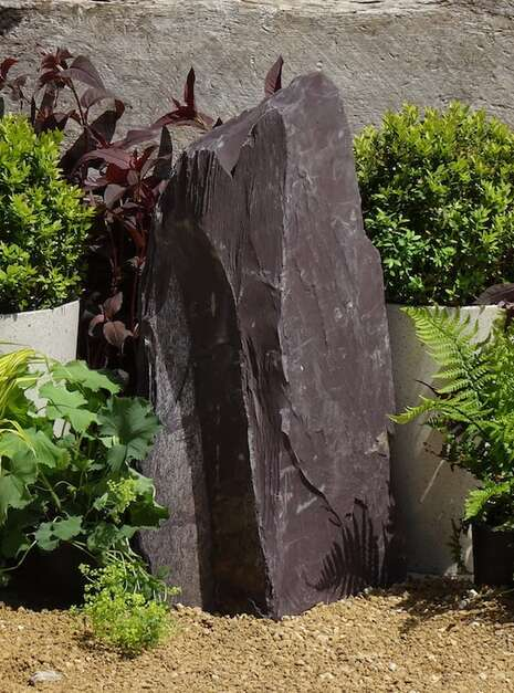 Japanese Monolith JM13 Standing Stone | Welsh Slate Water Features 04