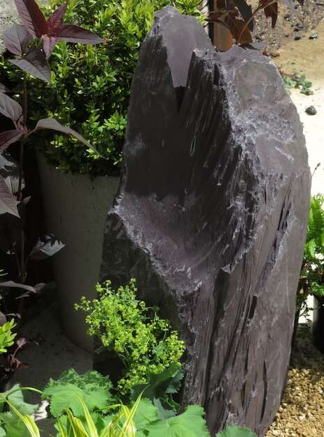 Japanese Monolith JM13 Standing Stone | Welsh Slate Water Features 05