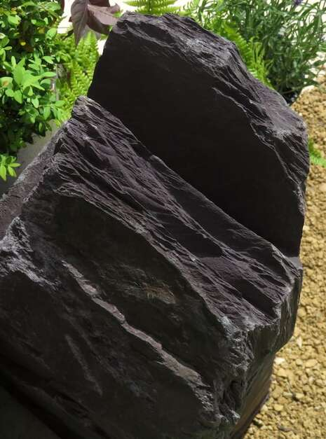 Japanese Monolith JM13 Standing Stone | Welsh Slate Water Features 06