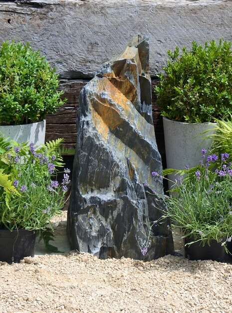 Japanese Monolith JM14   Welsh Slate Water Features 02
