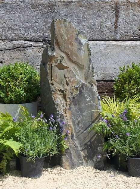 decorative rock obelisk