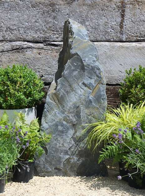 unique Welsh Slate standing stone for a landscaping project