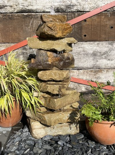 900mm Stone Stack Water Feature SS7